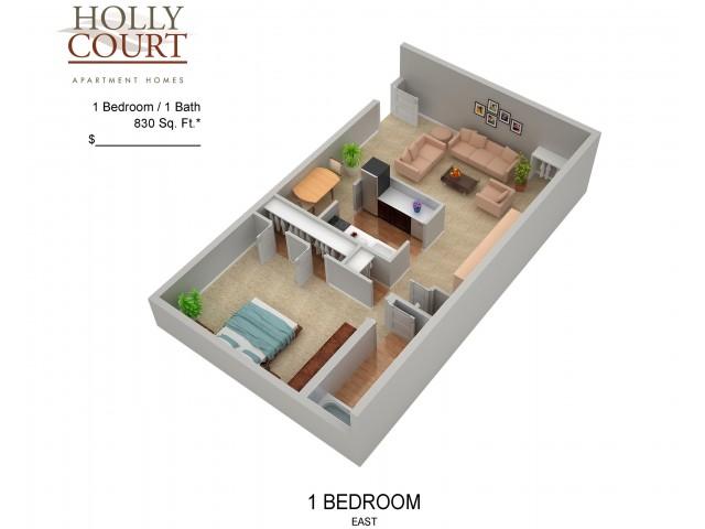 Floor Plan 27 | Apartments In Pitman NJ | Holly Court