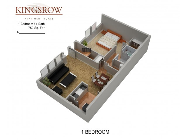 Floor Plan 4 | Kingsrow Apartments | Kingsrow