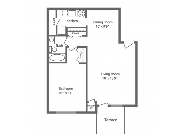 Floor Plan 1 | Philadelphia Apartments | Park Waverly