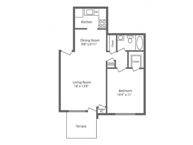 Floor Plan 2 | Apartments In Philadelphia | Park Waverly
