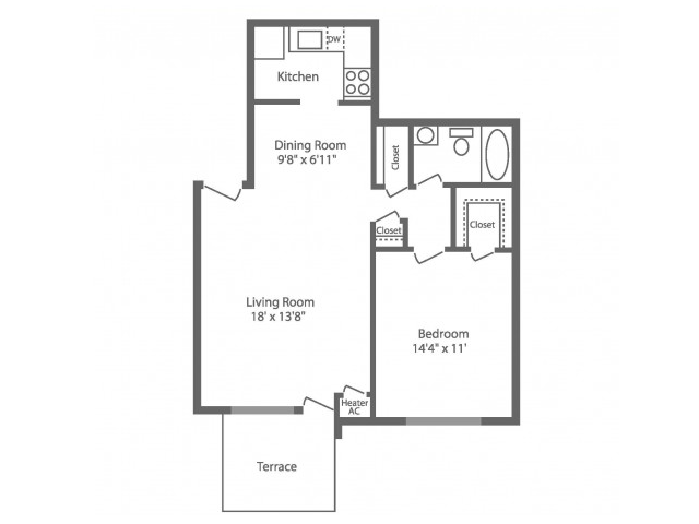 Floor Plan 3 | Philadelphia Apartments For Rent | Park Waverly