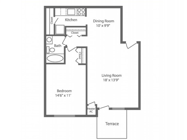 Floor Plan 4 | Apartments In Philadelphia PA | Park Waverly