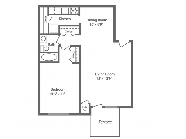 Floor Plan 5 | Apartments For Rent In Philadelphia | Park Waverly