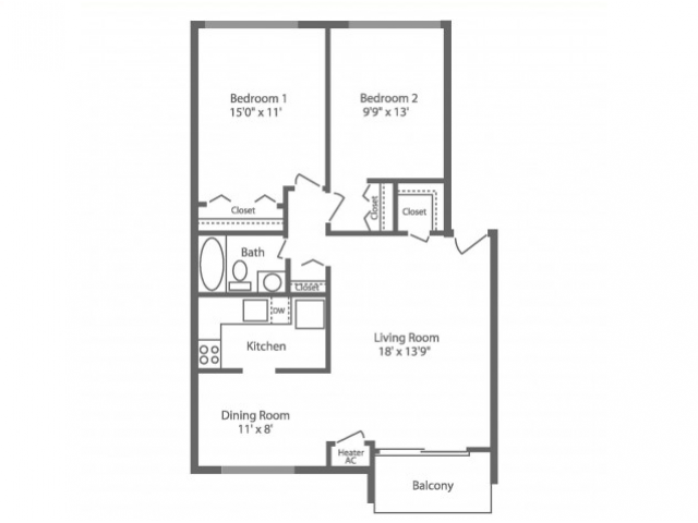 Floor Plan 7 | Apartments In Philadelphia | Park Waverly