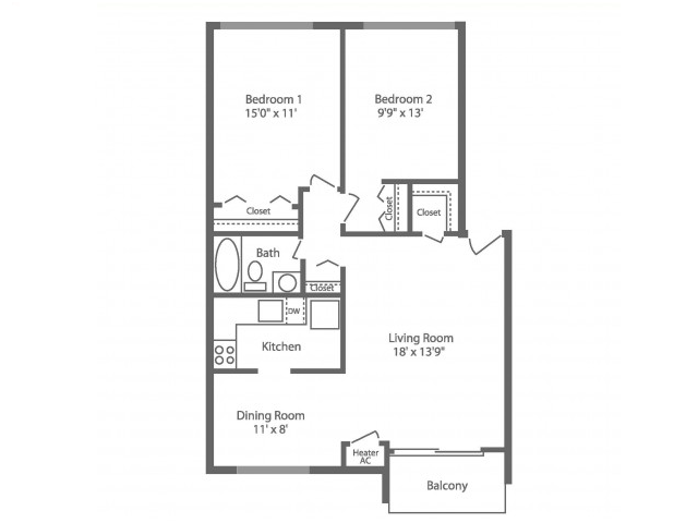 Floor Plan 8 | Philadelphia Apartments For Rent | Park Waverly
