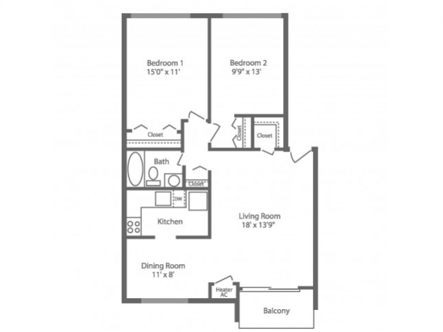 Floor Plan 9 | Apartments In Philadelphia PA | Park Waverly