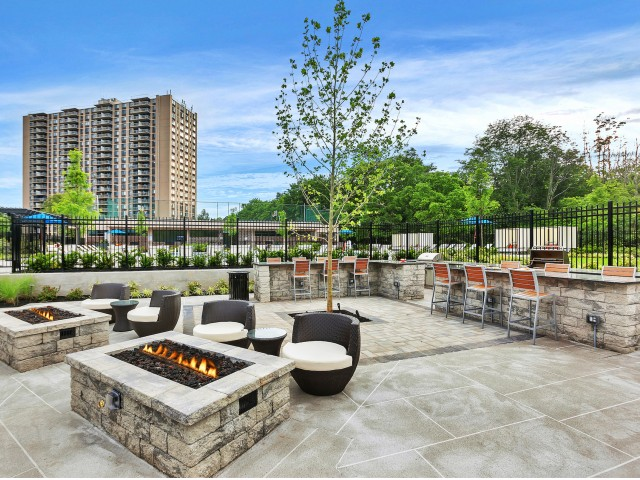 Resident Fire Pit | Somerset NJ Luxury Apartments | The Harrison