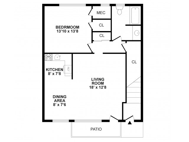 Floor Plan 3 | Burlington Apartments NJ | Burlington Pointe