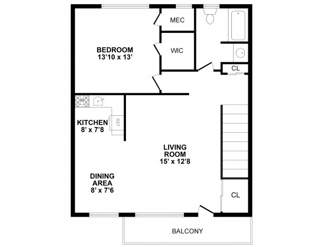 Floor Plan 4 | Apartments In Burlington | Burlington Pointe