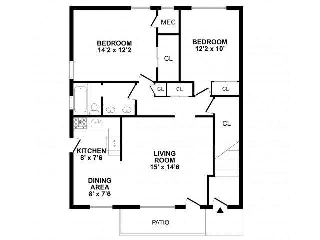 Floor Plan 5 | Burlington NJ Apartments | Burlington Pointe