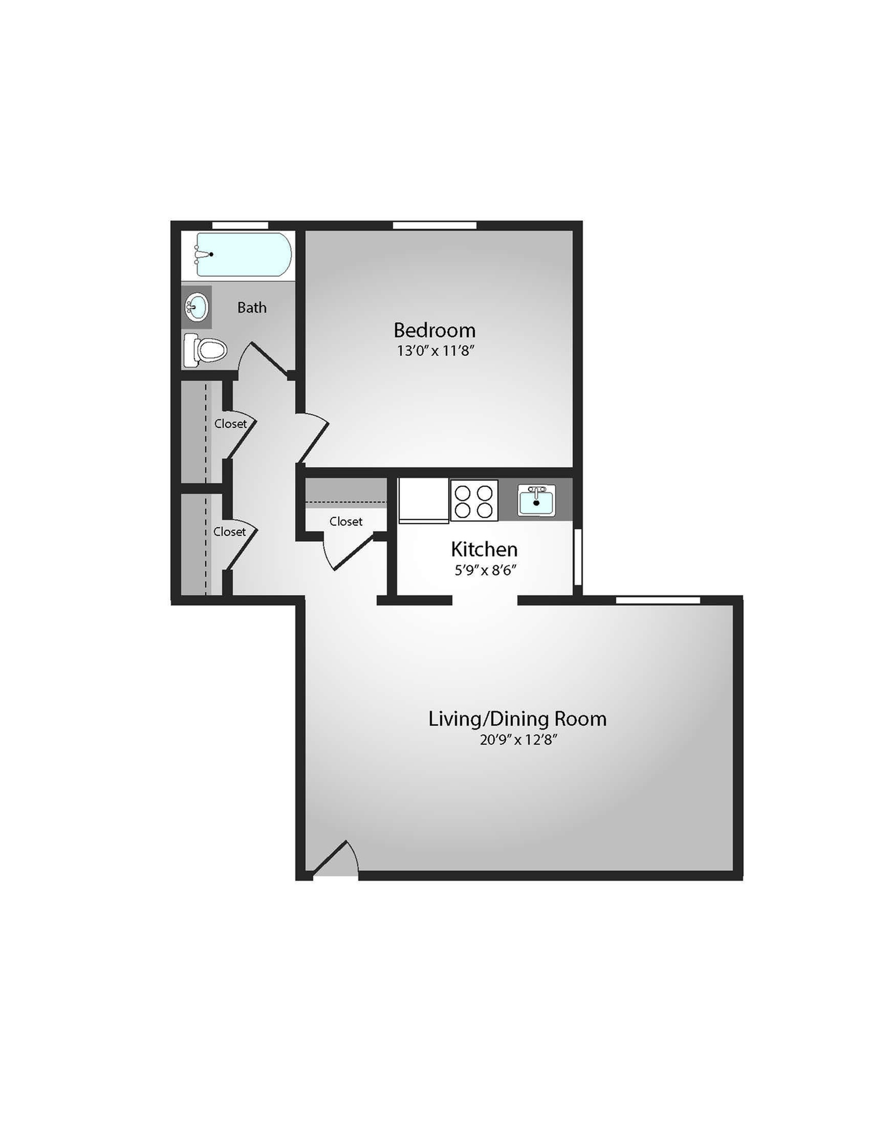 Floor Plan 11 | Apartments In Pittsburgh | The Alden