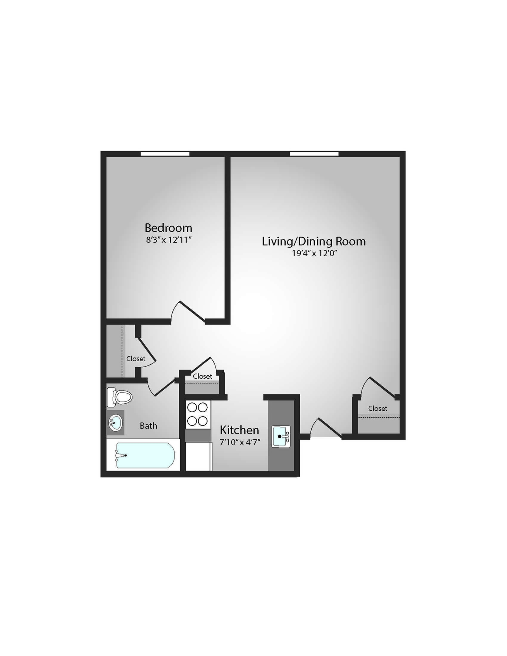Floor Plan 8 | Apartments Near Downtown Pittsburgh | The Alden