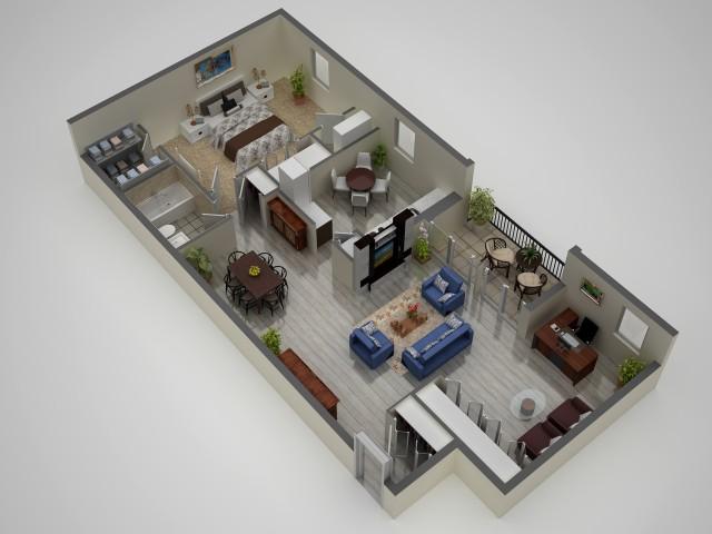 1 Bdrm Floor Plan | Apartments In Baltimore | Metro Pointe