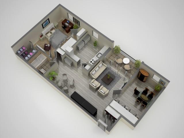 Floor Plan 2 | Apartments In Baltimore | Metro Pointe