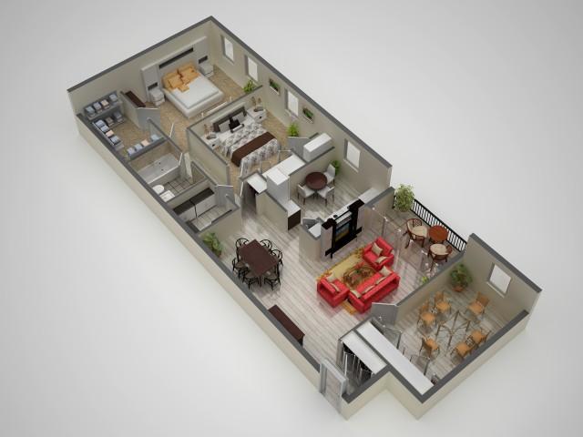 Floor Plan 3 | Baltimore MD Apartments | Metro Pointe