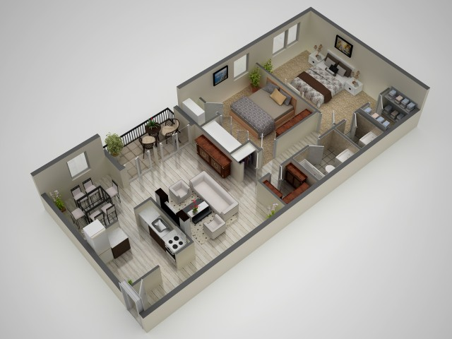 2 Bedroom Floor Plan | Baltimore MD Apartments | Metro Pointe