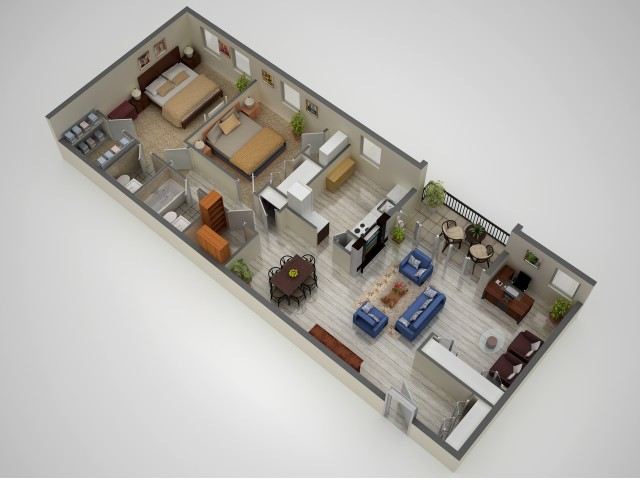 2 Bdrm Floor Plan | Baltimore Apartments | Metro Pointe