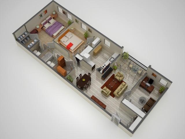 3 Bedroom Floor Plan | Baltimore Maryland Apartments | Metro Pointe