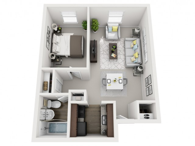 Floor Plan 9 | Apartments For Rent In Pittsburgh | The Alden