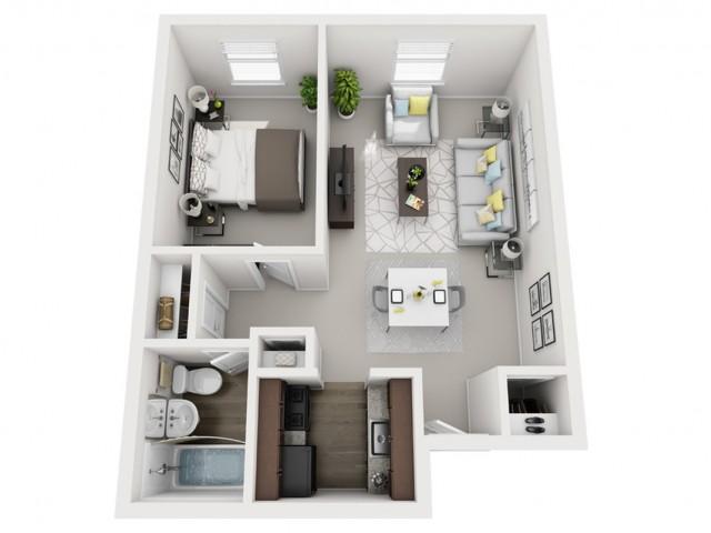Floor Plan 9 | Apartments For Rent In Pittsburgh | The Alden