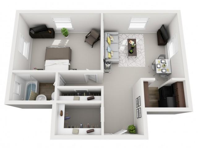Floor Plan 1 | Apartments In Pittsburgh | The Alden