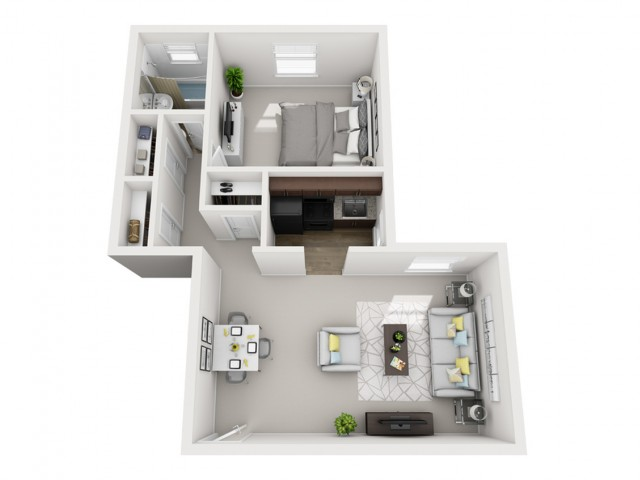 Floor Plan 6 | Apartments In Pittsburgh | The Alden