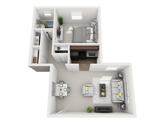 Floor Plan 6 | Apartments In Pittsburgh | The Alden