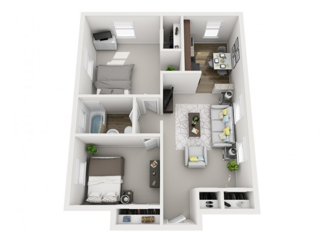 Floor Plan 15 | Apartments Near Downtown Pittsburgh PA | The Alden