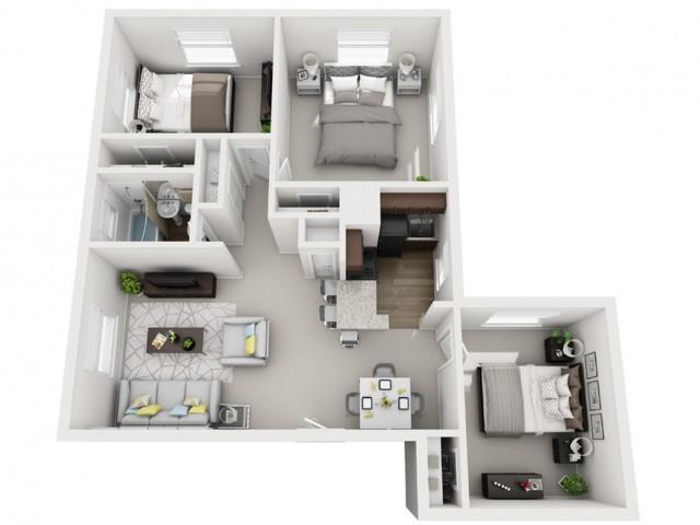 Floor Plan 34 | Apartments For Rent In Pittsburgh | The Alden