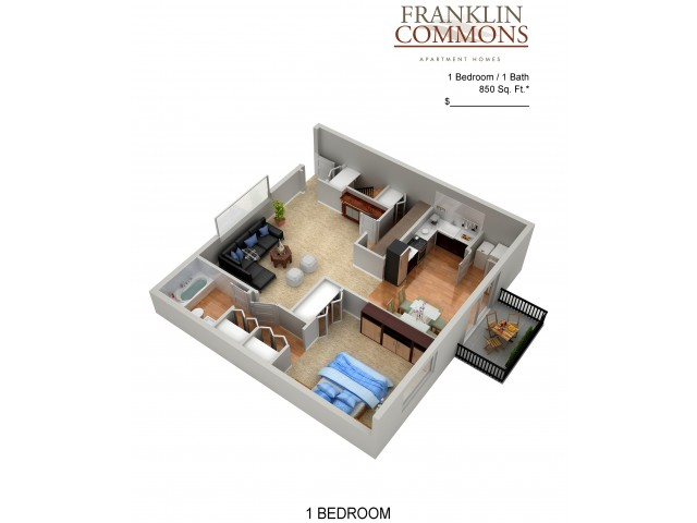 Floor Plan 5 | Apartments For Rent In Bensalem Pa | Franklin Commons