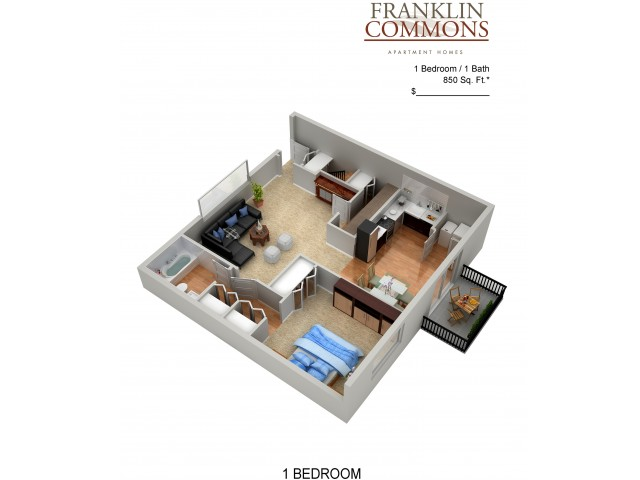 Floor Plan 9 | Apartments Bensalem Pa | Franklin Commons