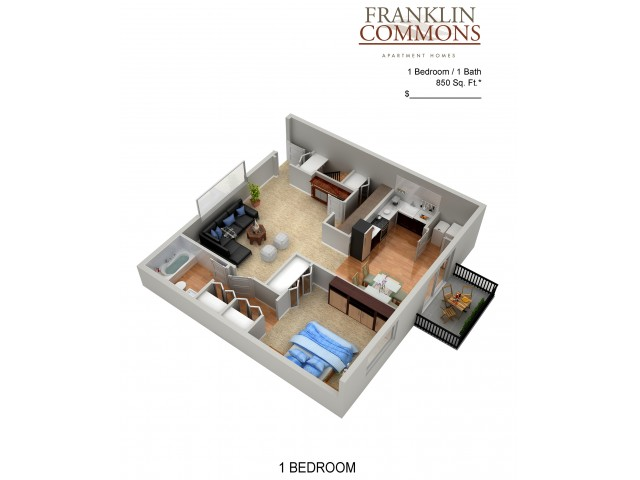 Floor Plan 19 | Apartments Bensalem Pa | Franklin Commons