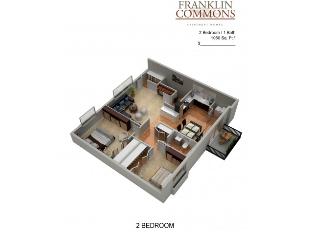 Floor Plan 8 | Apartments In Bensalem Pa | Franklin Commons