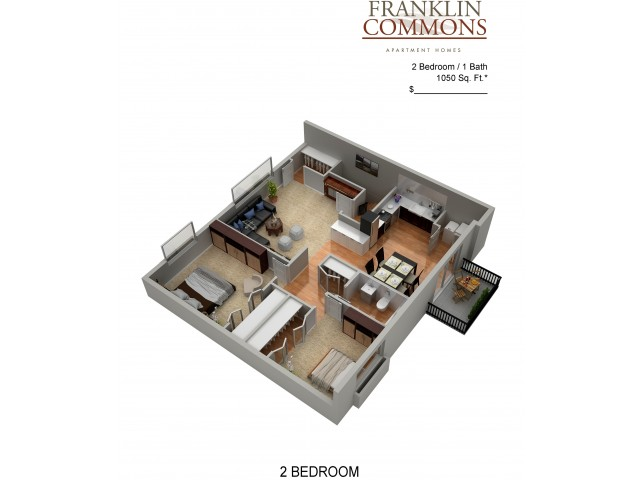 Floor Plan 13 | Apartments In Bensalem Pa | Franklin Commons