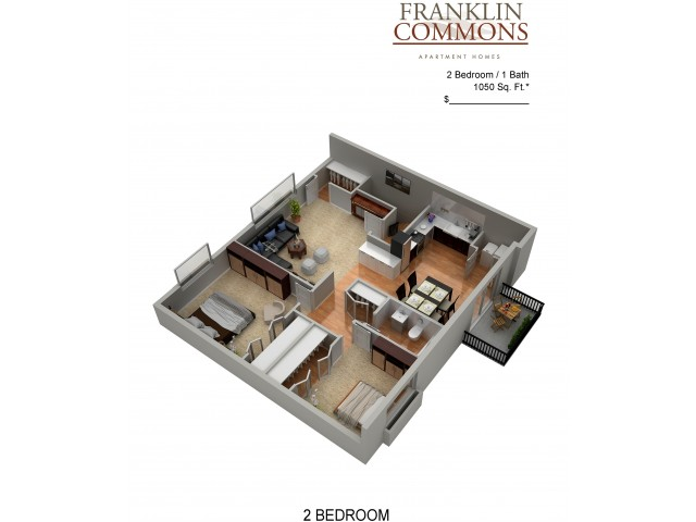 Floor Plan 14 | Apartments Bensalem Pa | Franklin Commons