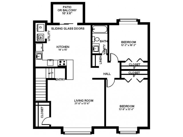 Floor Plan 17 | Bensalem Apartments | Franklin Commons