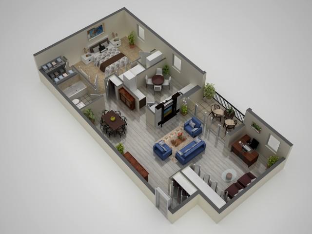 1 Bedroom and Den