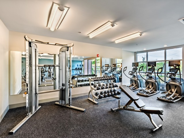 Cosmopolitan Apartments State of the Art Fitness Center in the North Hills Pittsburgh