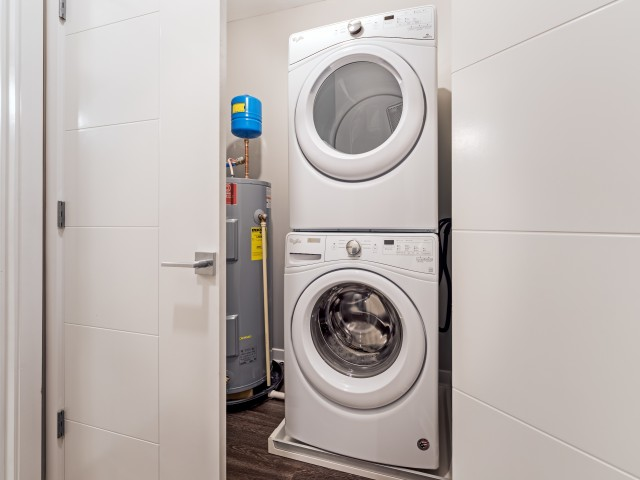 In-home Laundry at Cosmopolitan Apartments in North Hills Ross Township Pittsburgh