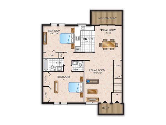 Two Bedroom 1.5 Bath