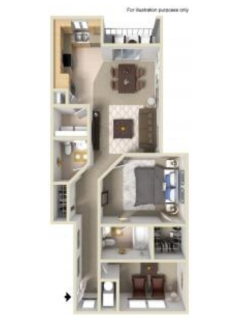 1 Bdrm Floor Plan | Manayunk PA Apartments | The Glen at Shamont Station