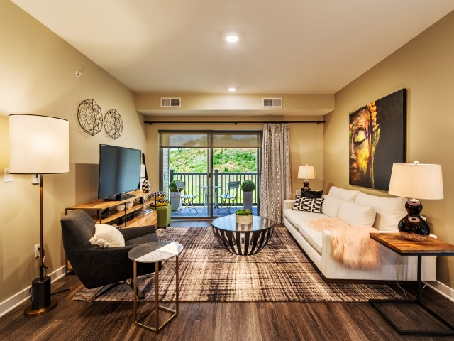North Hills Apartments Living Room in Pittsburgh