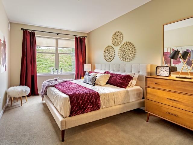 Spacious Master Bedroom at Cosmopolitan Apartments iin North Hills Pittsburgh