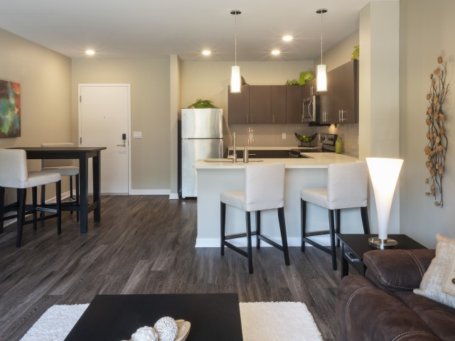 Luxurious Living Area in North Hills Pittsburgh at Cosmopolitan Apartments