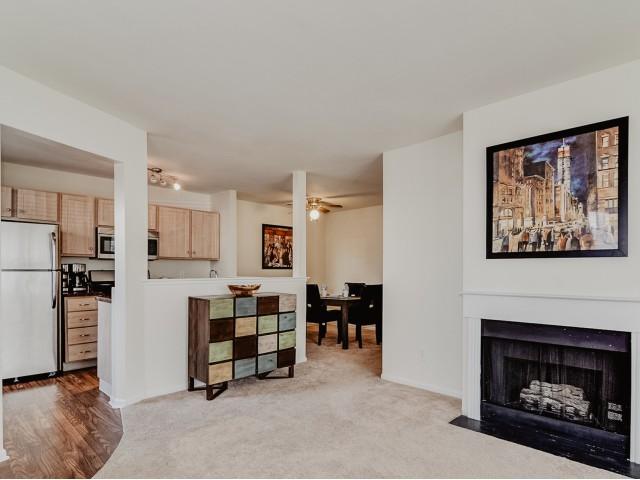 Living Room Kitchen Dining Room | Apartments Elkton MD | Stonegate at Iron Ridge