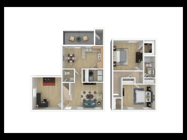 2 Bedroom with Den .5 Baths
