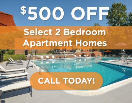 $500 Off Select 2 Bedroom Apartment Homes