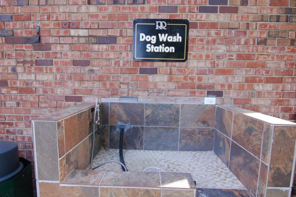 Outdoor dog wash station