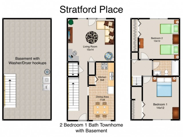 1 - 3 Bed Apartments | Stratford Place Apartments