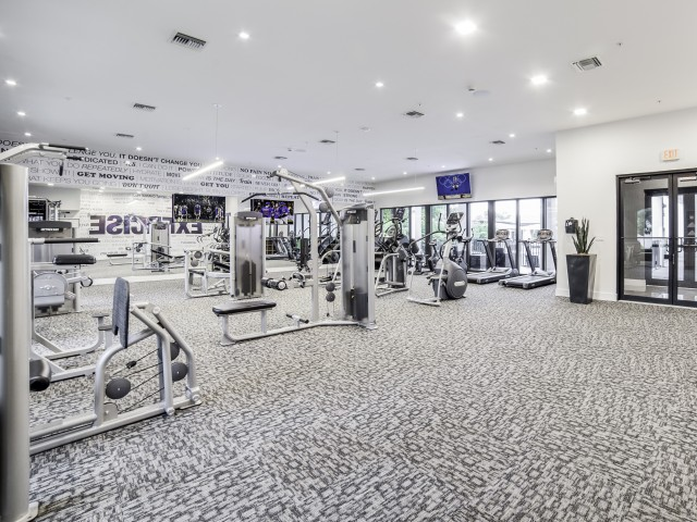Image of State-of-the-Art Health and Fitness Club Featuring High-Tech Cardio Equipment and Weights for Club Prado